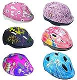 Toimsa Fahrradhelm 51-55 cm verstellbar kompatibel Minnie Mouse, Turtles, Mia & Me, Sofia die Erste, Frozen - Die Eiskönigin Kinder Schutzhelm (Frozen - Die Eiskönigin)