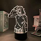 Luz nocturna 3D para niños Anime Azawa Shouta 3D Lámpara My Hero Academia LED Night Light for boy Kids Bedroom Decor Shota Aizawa Christmas Birthday Gift Table Lámpara de Navidad 7 Color Touch