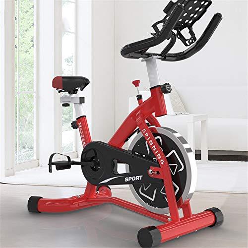 Yuefensu Bicicleta estática para el hogar, bicicleta estática vertical para interior o interior, bicicleta estática familiar (color rojo, tamaño: tamaño libre)