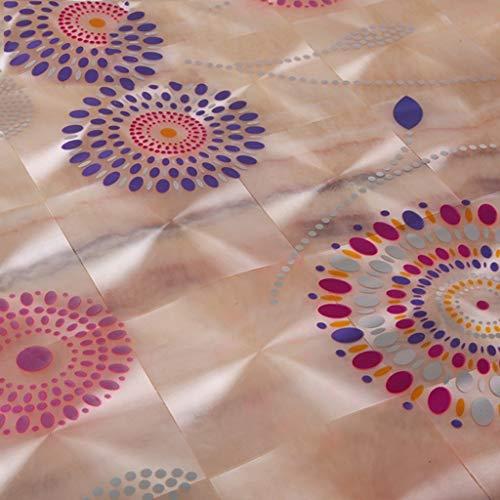 GCXZB Mantel PVC Mantel de Vidrio Suave Mantel Impermeable Café Mantel Mantel de TV Mesa de plástico Mantel Rectangular (Color: A, Tamaño: Rectángulo-70 * 120cm) Manteles