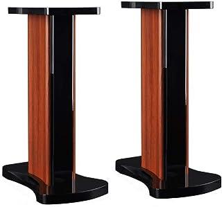 Muebles Speaker Stand Oficina Altavoz Floor Stand Anillo del Altavoz De Base For El Hogar Soporte De Madera Altavoz De Estantería (Color : Brown, Size : 42 * 27 * 50cm)