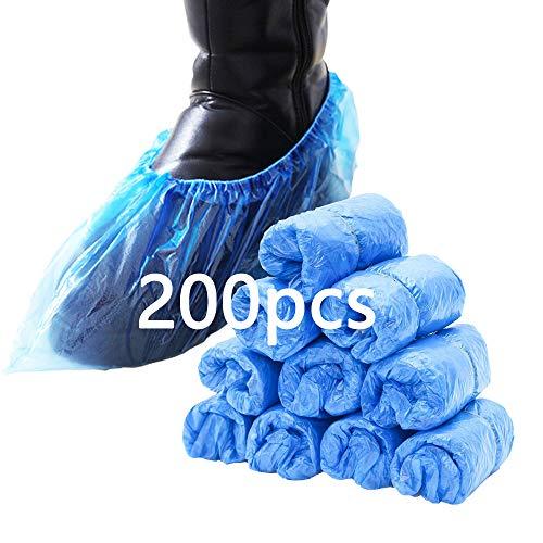 Schuhüberzieher Einweg, 200 Stück, rutschfest und langlebig ,blauen Einweg-Überschuhen ist staubdicht und schmutzabweisend, halten den Raum/das Auto/den Teppich sauber Für Familien und Outdoorreisen