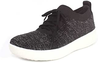FITFLOP Women's Lace Up F-Sporty Uberknit Sneaker, Black