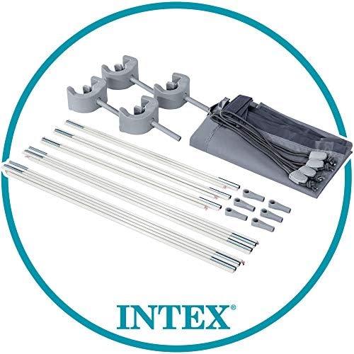 Intex 28054 - Toldo solar piscina, INTEX, para piscinas desmontables, largo 180 cm, con protección UV+50, tejido impermeable, Fácil de instalar, Metal Frame, XRT Frame 4