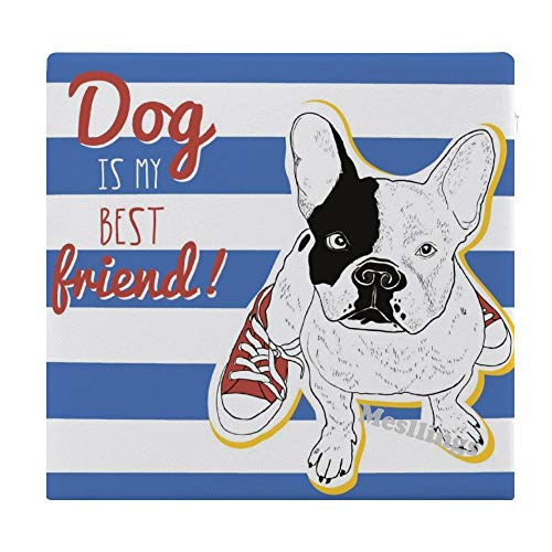 "Dog is My Best Friends Home Printed Fashion Square Comfortable Seat Cushions Chair Pads Office Soft Cushion - 15"" x 14"""