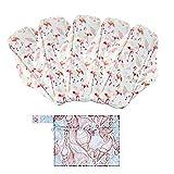 Tengan Juego de Viaje portátil Mini Bolsa de Bolsa húmeda Lavable 1pc 6 Piezas de Tela Lavable Reutilizable Absorbente Sanitaria Menstrual Almohadillas Liner Ideal