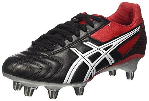 Asics Lethal Tackle, Botas de fútbol para Hombre, (Black/Racing Red/White), 42.5 EU