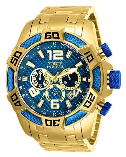 Invicta 25852 Pro Diver Scuba - Reloj de cuarzo con cronógrafo de acero inoxidable, color dorado (modelo: 25852)