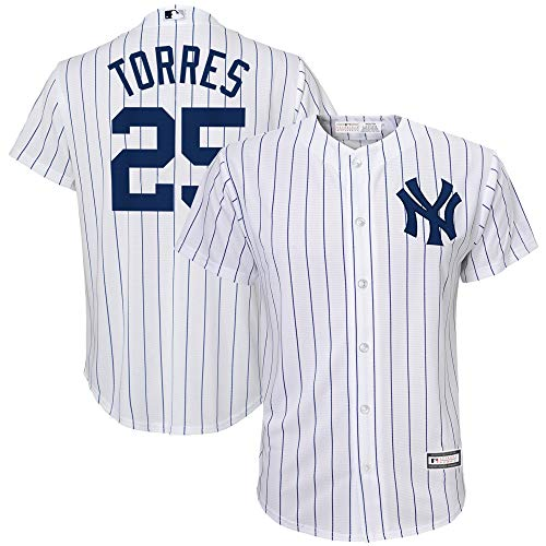 Gleyber Torres New York Yankees MLB Boys Youth 8-20 Player Jersey (White Home, Youth Medium 10-12)