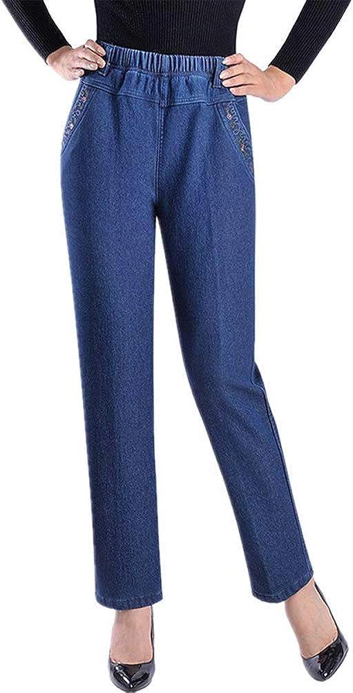 IDEALSANXUN Women's Fleece Lined Sale item Jeans Waist Retro Elastic Max 86% OFF