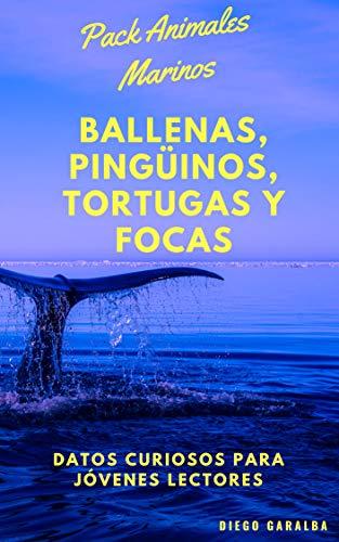 PACK ANIMALES MARINOS. 4 LIBROS, BALLENAS, FOCAS, TORTUGAS Y ...