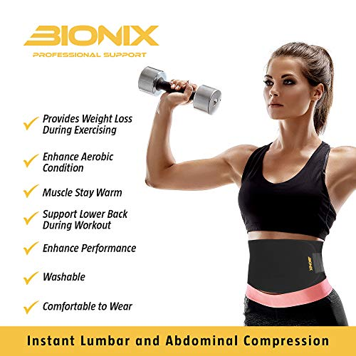 Waist Trainer Trimmer – Accelerates Weight Loss, Fat Burner, Abs Toning, Back Support, Sauna Slimming Belt for Men & Women – Gym Fitness Stomach Sweat Trainer Belts for Exercise, Running and Workout