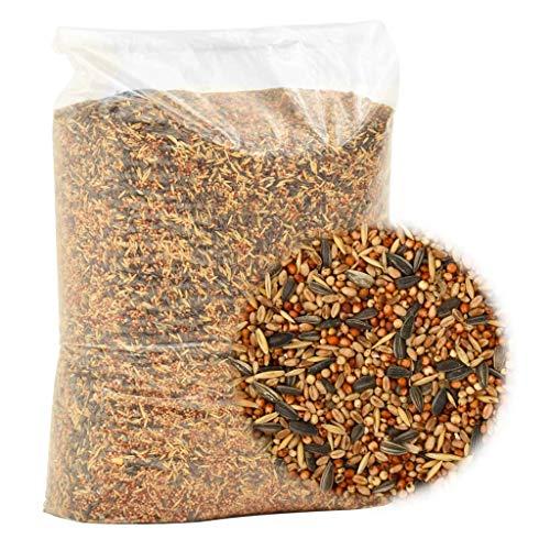 Tidyard Comida para pájaros 25 kg de Alimentos de Aves Silvestres, Mezcla Premium. Comida para pájaros Salvajes,Comida para pájaros sin Trigo para Aves Silvestres y Aves Silvestres