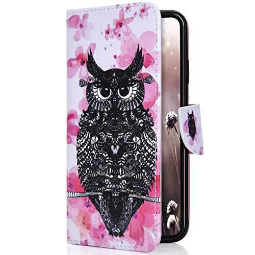 Uposao Etui Samsung Galaxy Note 9 Coque Cuir Portefeuille PU Premium Housse à Rabat Case,Flip Cover Cordon Portable Stand Support Magnétique 3D Effet