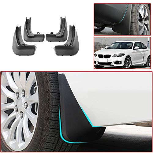 Muchkey no dril car mud Flaps for BMW 2 Series 2015 2016 2017 2018 Splash Front and Rear Guards 4pcs/Set