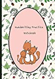 Handwriting Practice Notebook: Journal Composition Notebook with Blank Lined Writing Letters & Words Sheet for Preschool or Kindergarten K-3 Grade Students, Workbook for Kids Family Fox Theme
