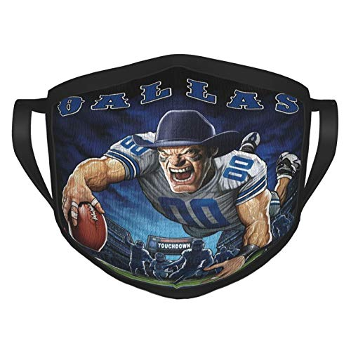 Fremont Die Dall-as Cowb-oys NFL Outdoor Bandanas,Adult Black Border Masks,Mouth Guard,Balaclava,Neck Gaiter,Dustproof Scarf,Face Cover