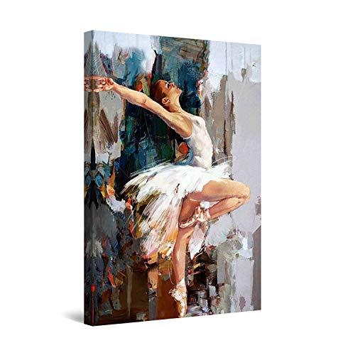 Startonight Cuadro Moderno en Lienzo - Bailarina de los Sueños - Pintura Abstracta para Salon Decoración Grande 80 x 120 cm