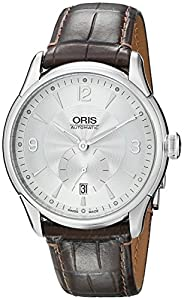 Oris Men's 623 7582 4071LS Artelier Small Second Date Watch Prices and Now and review