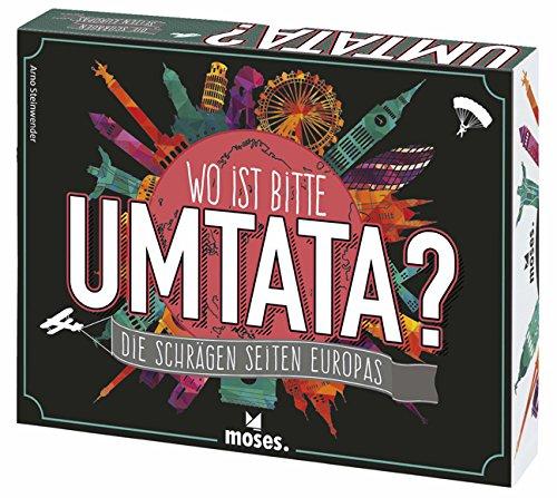 Moses MOS90226 - Wo ist Bitte Umtata? | Das Spiel über die schrägen Seiten Europas | Ein Wissens- und Ratespiel ab 12 Jahren
