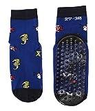 Wasserschuhe rutschfest Schwimmsocken Kinder Wattwander Strand Socken Fische, Größe:19/22 bzw. 86/92, Farben alle:royal