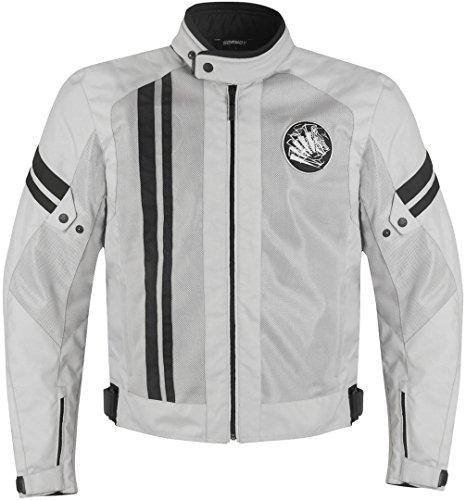 Germot Airsteam Motorrad Textiljacke M Hellgrau/Schwarz