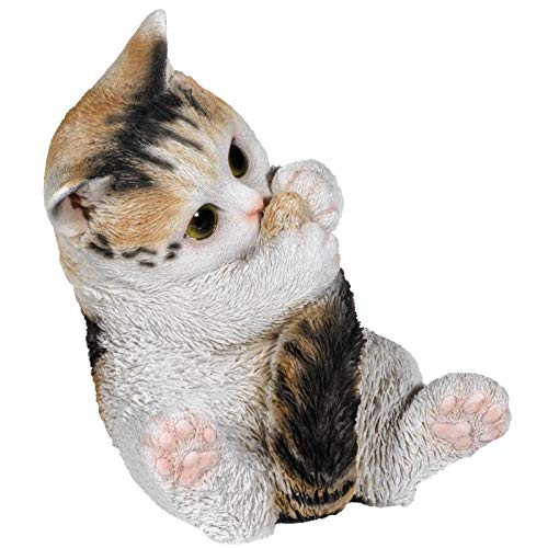 SIDCO Katze Deko Figur Kätzchen Katzenfigur Skulptur Gartenfigur lebensecht