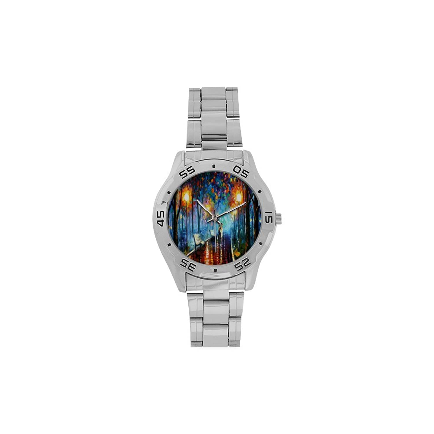 Fathers/Boyfriends Gifts Vincent Van Gogh Paintings Men's Stainless Steel Analog Watch