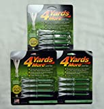 4 Yards More Golf Tees 4' - Green - 3 Packs of 4 - (11926)