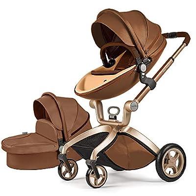 Cochecito de bebé Hot Mom 2 en 1 con Sillas de paseo, 2020 Lifestyle F22 con 2 piezas - Coffee