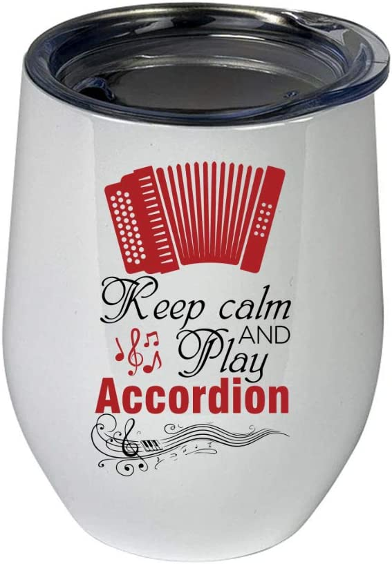 Purchase TINAMIT Keep Calm And Tumbler 70% OFF Outlet 12oz Play Accordion