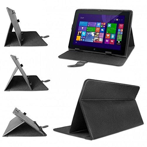 eFabrik Universal Tablet Tasche Hülle für Odys Windesk X10 X610095 25,7 cm (10,1 Zoll) Tablet-PC Schutztasche Schutzhülle Cover Case mit Aufstellfunktion hochwertige Leder-Optik schwarz