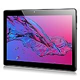 Qimaoo Tablet 10 Zoll Android 10.0, 4 GB RAM 128 GB ROM, Octa Core Prozessor, 4G LTE Dual SIM, HD (1280 x 800), 6000mAh Akku, WiFi/Type C/GPS/Bluetooth 4.0 Tablets (Schwarz)