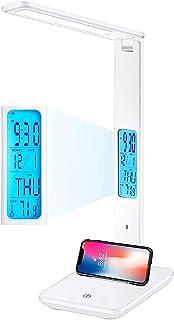 LEDデスクライト 電気スタンド タッチセンサー調光 充電卓上ライト 緊急用可能 3段階調光調色 (ホワイト)