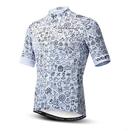 Maglia da Ciclismo da Uomo Manica Corta da Bici MTB Jersey Zip Abbigliamento da Strada di Montagna Magliette da Bicicletta Magliette da Ciclismo da Corsa XL