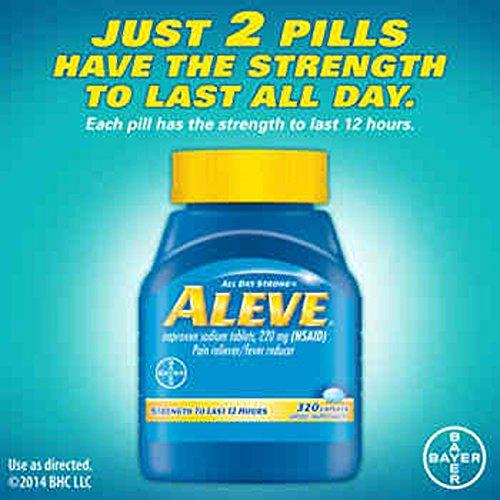 Aleve Caplets Pain Reliever Fever Reducer, 320 Caplets - COS