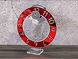 Orologio da Tavolo novità Design Moderno Idea Regalo Originale San Valentino Wow Clock Made in Italy Color Rosso Red Moon
