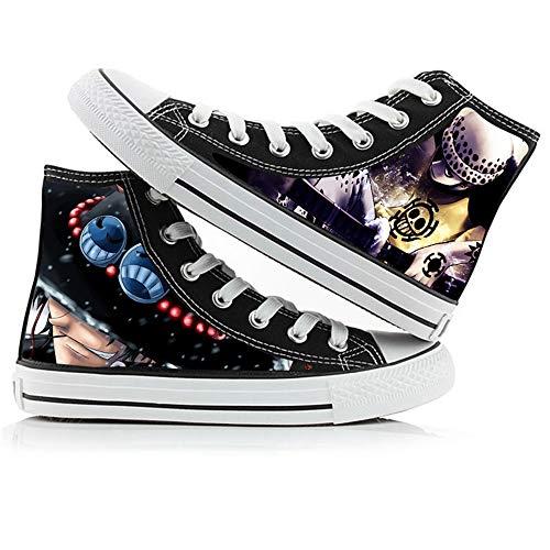 Nyrgyn Anime One Piece Zapatos de Lienzo Impreso Zapatillas de Deporte de Lona de Zapatos Casuales,41 EU