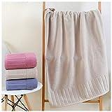 XXYHYQHJD Clásico de la Moda de algodón Puro Toallas de baño for Adultos Soft Espesar Inicio de baño Toalla Simples Toalla de baño (Color : Marrón, Size : 1 Pcs 70x140)