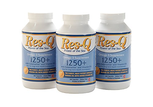 Res-Q 1250+ Omega-3 & Vitamin D3 Fish Oil 200 Capsules 3-Pack