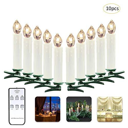 Led-kaarsen set vlamloze kaarsen afstandsbediening led-kaars lichten kerstboom decoratieve lichten flikkerend voor binnen en buiten