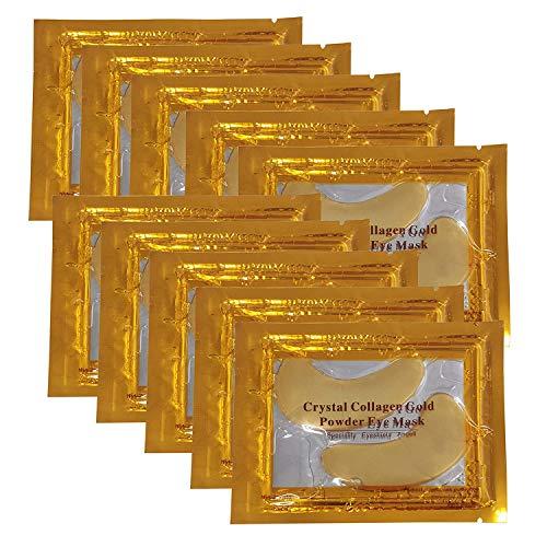10 x Black Forest Spa Premium Crystal Gold Collagen EYE Mask Crystal Bio Anti Wrinkle