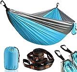 Chanurae Hamaca portátil doble y individual para camping, para interior y exterior, para playa, jardín, terraza, senderismo, portátil