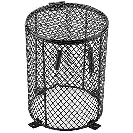 HiFuture Pet Heating Lamp Shade Reptile Heater Guard Anti-scald Heating Bulb Lamp Enclosure Cage Hanging Pendant Metal Wire Cage Protector Heat Light Mesh Cover Lampshade For Ceramic Light Bulb