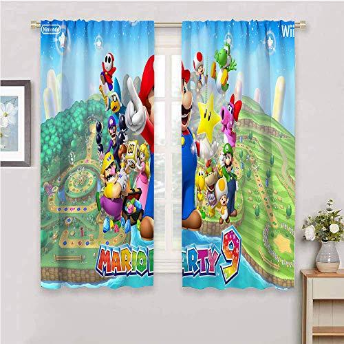 QIAOQIAOLO Super Mario Isolationsvorhang, für alle Jahreszeiten, 99,1 cm Länge, einfach zu installieren (Super Mario Party), B 139 x L 99 cm