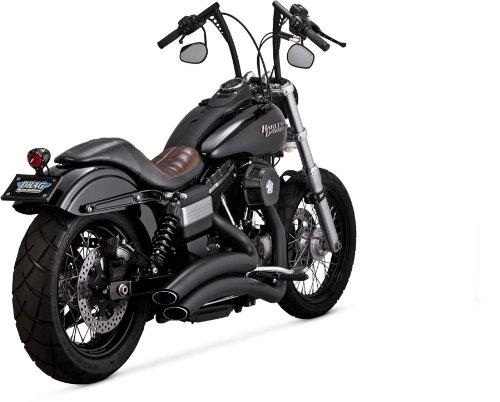 Vance & Hines Auspuffanlagen Super Radius schwarz Harley Davidson Dyna 2006-2014