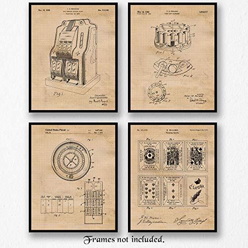 Vintage Gambling Patent Poster Prints
