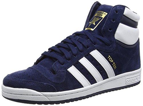 adidas Originals Top Ten Hi, High Homme, Bleu Collegiate Navy FTWR White Collegiate Navy, 43 1/3 EU