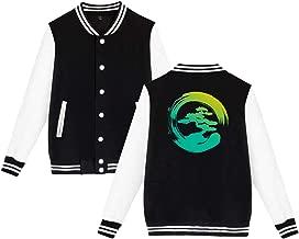 Unisex Baseball Jacket Uniform Bonsai Tree Boys Girls Hoodie Sweatshirt Sweater Tee (Back Print)