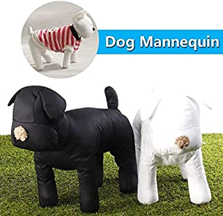 Black/White Dog Mannequin Cotton Stuffed Model Clothing Apparel Shop Collar Display Pet Toy Adjusted Leg Poses for Retail Store